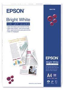 EPSON Bright White Ink Jet Paper, bílý, 90g/m2 (500listů) pro inkoustové tiskárny, A4