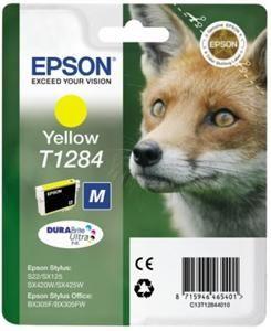 EPSON originální ink C13T12844011, T1284, yellow, 3,5ml, EPSON Stylus S22, SX125, 420W, 42