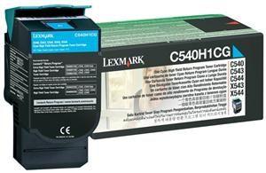 LEXMARK originální toner C540A1CG cyan, 1000str., LEXMARK C540, X543, X544, X543, X544