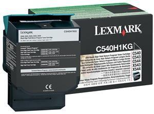 LEXMARK originální toner C540A1KG black, 1000str., LEXMARK C540, X543, X544, X543, X544