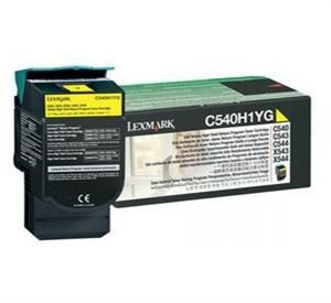 LEXMARK originální toner C540H1YG, yellow, 2000str., return, high capacity, LEXMARK C540,