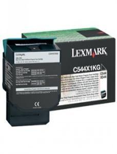 LEXMARK originální toner C544X1KG, black, 6000str., return, extra high capacity, LEXMARK X