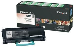 LEXMARK originální toner E260A11E, black, 3500str., return, LEXMARK E260, E360, E460