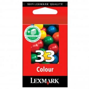 LEXMARK originální ink 18CX033E, #33+, color, 220str., LEXMARK Z815, Z518, Z818, X5250, 52