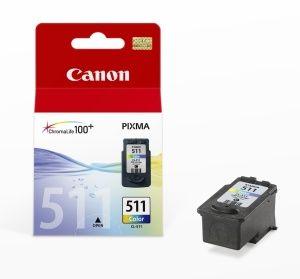 CANON originální ink CL-511, color, 245str., 9ml, CANON MP240, MP260