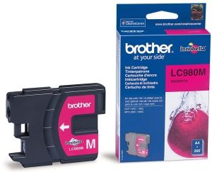BROTHER originální ink LC-980M (magenta, 260 str.@ 5%, draft)