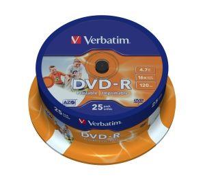 VERBATIM DVD-R, 43538, DataLife PLUS, 25-pack, 4.7GB, 16x, 12cm, General, Advanced Azo+, c