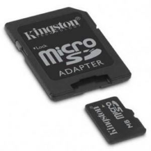 KINGSTON Micro Secure Digital card, 8GB, micro SDHC, SDC4/8GB, Class 4, s adaptérem