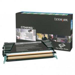 LEXMARK originální toner C734A1KG, black, 8000str., return, LEXMARK C734, C736, X734, X736