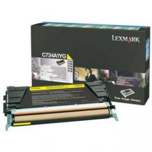 LEXMARK originální toner C734A1YG, yellow, 6000str., return, LEXMARK C734, C736, X734, X73