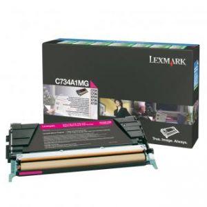 LEXMARK originální toner C734A1MG, magenta, 6000str., return, LEXMARK C734, C736, X734, X7