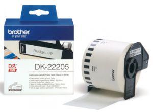 BROTHER DK-22205 samolepící papírová role 62mm x 30.48m bílá 1 ks pro tiskárny štítků