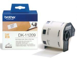 BROTHER DK-11209 papírové štítky 29mm x 62mm bílá 800ks DK11209 pro tiskárny řady QL