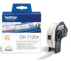 BROTHER DK-11204 originální (papírové/univerzální štítek-400 ks) 17 x 54mm
