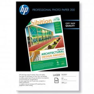 HP Profesional Glossy Laser Photo Paper, foto lesklý, 210x297mm (A4), 200 g/m2, 100 CG966A