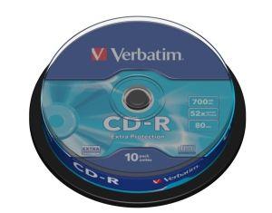 VERBATIM CD-R, 43437, DataLife, 10-pack, 700MB, Extra Protection, 52x, 80min., 12cm, bez m