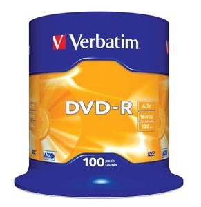 VERBATIM DVD-R, 43549, DataLife PLUS, 100-pack, 4.7GB, 16x, 12cm, General, Advanced Azo+,