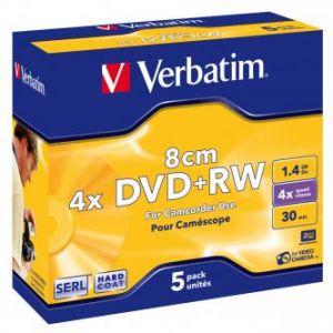 VERBATIM DVD+RW, 43565, DataLife PLUS, 5-pack, 1.46GB, 4x, 8cm, Mini, General, ScratchGuar