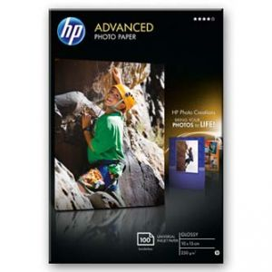 """HP Advanced Glossy Photo Paper, foto papír, lesklý, zdokonalený, bílý, 10x15cm, 4x6"""", 100x"""