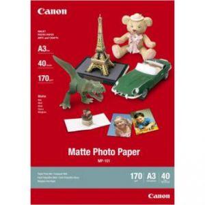 CANON Matte Photo Paper, foto papír, matný, bílý, A3, 297x420mm (A3), 170 g/m2, 40 ks, MP-