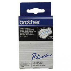 BROTHER TC-203 modrý tisk/bílý podklad lam