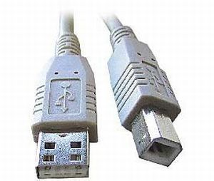 USB kabel typu AB, délka 1,8m HQ Black