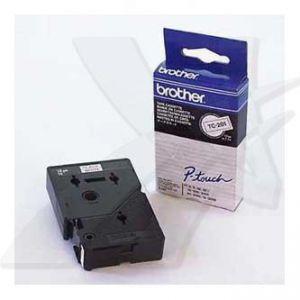 BROTHER TC-201 bílá / černá (12mm)