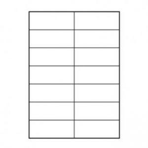 LOGO etikety 105mm x 42.4mm, A4, matné, bílé, 14 etiket, 140g/m2, baleno po 10 ks, pro ink