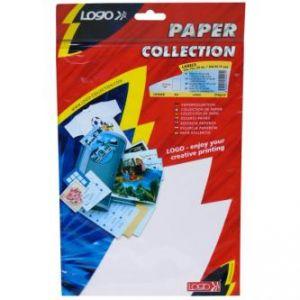 LOGO etikety 210mm x 297mm, A4, matné, bílé, 1 etiketa, 140g/m2, baleno po 10 ks, pro inko