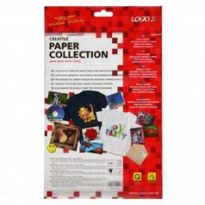 Zažehlovací papír LOGO pro tmavá trička bílý A4 5 listů pro inkoustové tiskárny