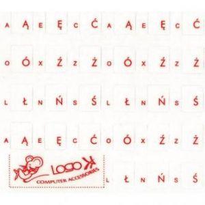 LOGO Přelepky na klávesnice, červené, polské, cena za 1 ks