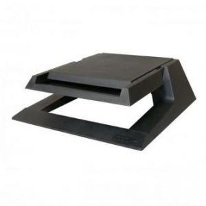 Podstavec pod monitor se zásuvkou na kancelářské potřeby černý plast 23 nosnost LOGO