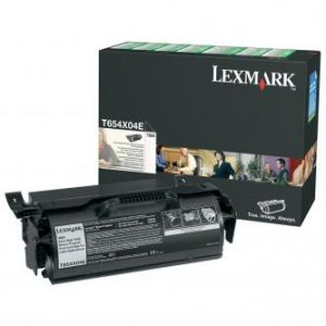 LEXMARK originální toner T654X04E, black, 36000str., return, extra high capacity, LEXMARK