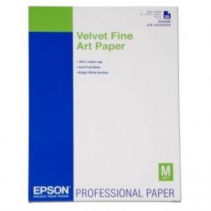 EPSON Velvet Fine Art Paper, umělecký papír, sametový, bílý, A2, 420x594mm (A2), 260 g/m2,