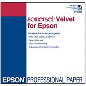 """EPSON 610/30/Somerset Velvet Fine Art Paper, 610mmx30m, 24"""", 505 g/m2, papír,"""