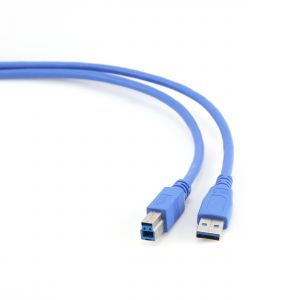 Kabel USB A-B 3m USB 3.0, modrý