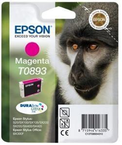 EPSON originální ink C13T08934011, magenta, 3,5ml, EPSON Stylus S20, SX100, SX200, SX400
