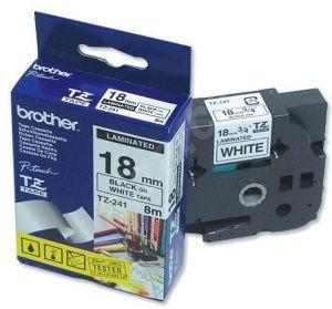 BROTHER Tze-241 černý tisk / bílý podklad 18mm