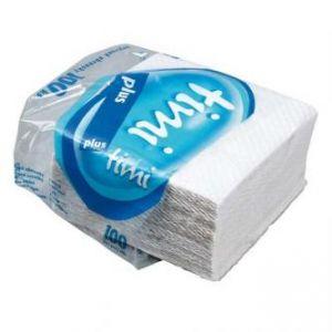 Ubrousky jednovrstvé, 330 x 330mm, bílé, 100% celulóza