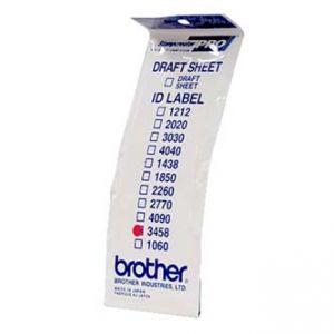 Štítky pro razítka BROTHER ID3458, 34x58mm, 12ks, s průhlednou krytkou
