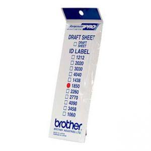 Štítky pro razítka BROTHER ID1850, 18x50mm, 12ks, s průhlednou krytkou