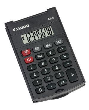 Kalkulačka CANON, AS-8, šedá, kapesní, osmimístná