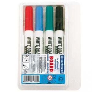 Popisovač 8559 2.5mm, černý, červený, modrý, zelený, 4ks,stíratelný, Centropen