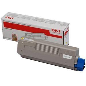 OKI originální toner 44059165, yellow, 7300str., OKI MC851, MC861