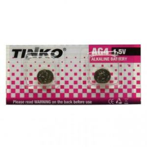 Knoflíková baterie LR66, AG4, alkalická 1.5V, TINKO, blistr 2-pack, cena za 1ks