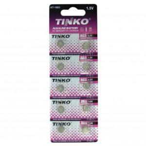 Alkalická baterie, knoflíková, LR41, AG3, 1.5V, TINKO, blistr, 10-pack, cena 1ks