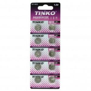 Alkalická baterie, knoflíková, LR54, AG10, 1.5V, TINKO, blistr, 10-pack, cena za 1ks
