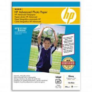 HP Q8696A Advanced Photo Paper Gloss 13x18cm, 25ks, 250g/m2 foto papír, lesklý