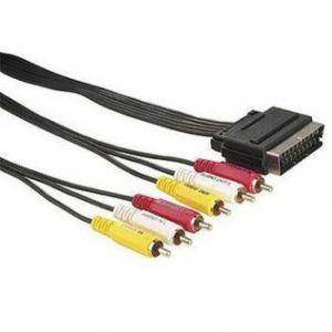 Kabel Scart M- Cinch 6x M, 5m, černý