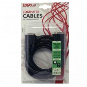 Kabel DVI (24+1) M- DVI (24+1) M, DVI-D (dual link), 3m, stíněný, černý, LOGO, blistr